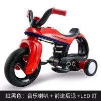 玩具儿童电动车摩托车电瓶三轮车电动车儿童太空车玩具车星际 红色