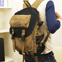 双肩包男背包帆布包学生书包男女旅行包时尚电脑背包学院风