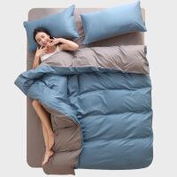 全棉纯棉床上四件套风少女心纯色床单被套被子床笠宿舍三件套定制