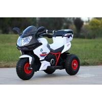 儿童电动三轮车摩托车1-3-6岁小孩玩具车可坐人男孩充电遥控大号电动车 充气轮胎双驱白色+背箱+早教 一车双座大电瓶