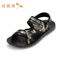 红蜻蜓新款时尚百搭套扣男凉拖鞋---