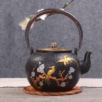 铁壶仿日本南部铸铁壶金凤凰生铁壶烧水壶茶具茶壶煮茶器烧水铁壶电陶炉套装日本老铁茶壶茶具