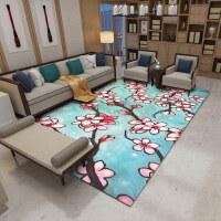 新中式客厅地毯简约抽象卧室沙发茶几地毯书房中国风满铺定制k