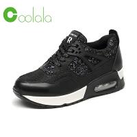 红蜻蜓旗下品牌COOLALA 内增高鞋子女平底运动鞋厚底增高鞋百搭鞋女