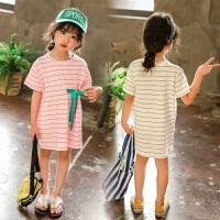 女童连衣裙夏装宝宝条纹T恤裙儿童裙子