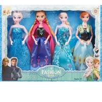 冰雪奇缘娃娃女孩爱沙艾莎芭芘比娃娃套装安娜爱莎小公主玩具儿童 其他尺寸