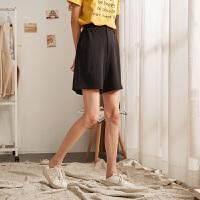 唐狮2019新款运动短裤女夏宽松高腰休闲短裤女韩版短裤女学生