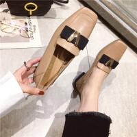 乐福小皮鞋女2019春季新款时尚单鞋低跟英伦风原宿懒人乐福鞋女鞋