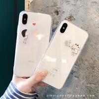 情�H秀恩��iPhone6s透明手�C��Xsmax卡通小新丸子�O果X/7/8plus套