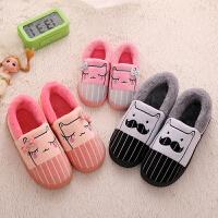 亲子棉拖鞋包跟女保暖情侣卡通可爱男女儿童小孩一家三口棉鞋