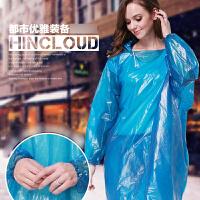 一次性旅行雨衣加厚户外套装登山成人徒步男雨披长款带帽雨裤旅游