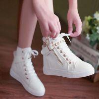 小白鞋百搭透气白色板鞋2018春季新款帆布鞋街舞高帮鞋女韩版学生