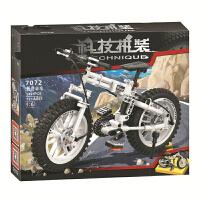 兼容乐高积木科技系列折叠单车越野摩托车工程车F1模型拼装积木男孩子儿童益智创意拼插玩具礼物