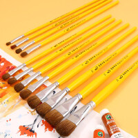 博格利诺水粉画笔油画笔套装丙烯笔排笔美术专用画笔水粉颜料笔尼龙笔美术生画画专业扇形笔学生用初学者狼毫