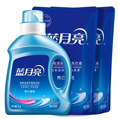 蓝月亮 洗衣液亮白增艳薰衣草香6斤组合:机洗1kg瓶+1kg袋*2
