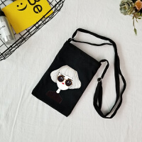 新款帆布包北欧熊兔可爱动物手机袋斜挎包清新学生零钱包