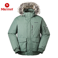 Marmot/土拨鼠新款升级版男士防水透气防风保暖700蓬休闲羽绒服