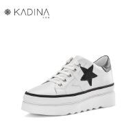 卡迪娜牛皮革小白鞋运动鞋休闲鞋板鞋单鞋女KLC83201