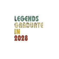 【预订】Legends graduate in 2028: Vintage Composition Notebook F