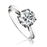 梦克拉 18K金钻石婚戒求婚戒订婚戒钻石戒指 依恋 克拉女戒