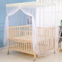 宽1米1大尺寸三胞胎双胞胎婴儿床加宽宝宝双人新生儿童床实木无漆
