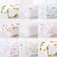 婴儿洗澡盖毯儿童毛巾被全棉吸水厚婴儿浴巾棉纱布宝宝浴巾