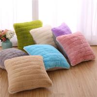 靠垫毛绒沙发靠枕抱枕套含芯床头软包欧式风格办公室靠背垫