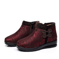 丰永聚2018冬妈妈棉鞋 高帮侧拉链老北京棉鞋中老年滑棉靴