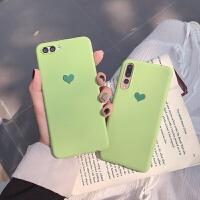 抹茶绿爱心华为nova4手机壳nova3i/3e保护套nova2s/2plus磨砂软壳 nova4 抹茶绿爱心
