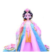 儿童古装白浅花千骨芭芘比娃娃衣服女童女孩中国古代公主玩具单个