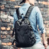 双肩包男皮包时尚潮流背包男士韩版大学生书包休闲电脑包旅行包潮