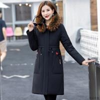 中老年羽绒服女中长款2018新款时尚妈妈装冬装中年女装加厚外套
