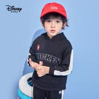 迪士尼童装2020春季新款男童卫衣套装儿童连帽上衣运动裤两件套