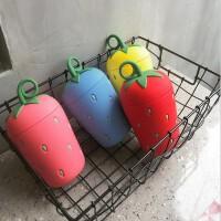 韩版简约草莓保温杯女学生清新水杯创意潮流可爱萌萌便携杯子304不锈钢材质270ML