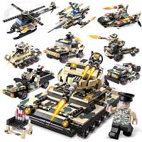 军事拼装玩具坦克飞机战车模型拼插积木兼容乐高男孩子儿童益智玩具礼物6-9-14岁