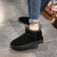 BANGDE雪地靴女短筒学生冬季短靴保暖加绒加厚平底滑雪地棉女棉鞋