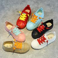 儿童帆布鞋男女童糖果色布鞋