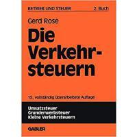 【预订】Die Verkehrsteuern 9783409509633