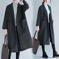220斤胖女人外套特大码宽松显瘦春季新款女装中长款韩版洋气