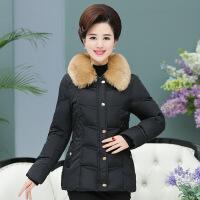 羽绒服中老年女装秋冬装40-50岁中年妈妈装短款服上衣新品