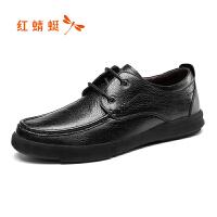 红蜻蜓男鞋休闲皮鞋秋冬休闲鞋子男WTA8423
