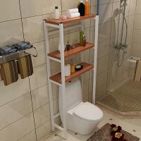 阳台洗衣机置物架上方储物架 整理卫生间浴室收纳架滚筒厕所多功能 白架+柚木 默认款