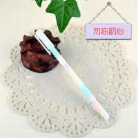 日韩创意文具简约磨砂中性笔0.38mm 唯美清晰学生黑色水笔签字笔一支装