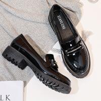 网红女款鞋ins小皮鞋韩版2019新款英伦风平底工作单鞋女春季
