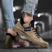 2018马丁靴男中帮休闲短靴韩版工装靴子潮流板鞋新款男鞋