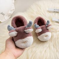 1-2-3-4-5-6岁穿冬季男女童宝宝保暖包跟卡通防滑厚底棉拖鞋软底