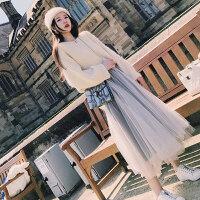 新年特惠胖mm女人洋气大码微胖女装上衣毛衣显瘦套装冬裙两件套减龄