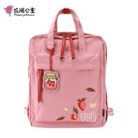 花间公主fruit2020春季新款双肩包百搭休闲尼龙帆布旅行女士书背包包