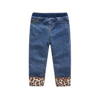【抢购价:52元】巴布豆童装女童冬季牛仔裤豹纹