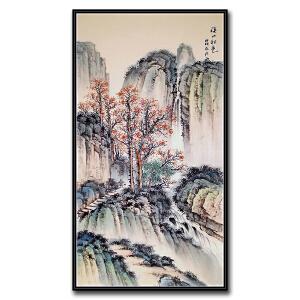 中国美术家协会会员、中国艺术书画家协会会员 张西珍《溪山秋色》
